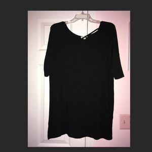 Tunic Top with Criss Cross Detail over chest